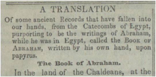 1842 Intro to Book of Abraham