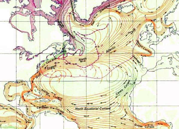 Currents of the North Atlantic Gyre