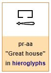 """Great house"" = ""Pharaoh"""