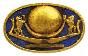 King Tut's solar bark ring