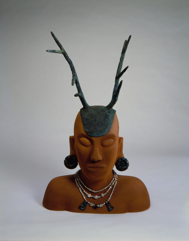 Mound Builder Headdress and Pearls