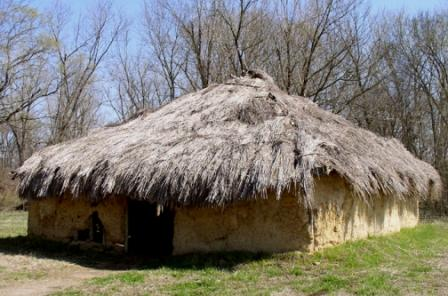 Mound Builder Type Wattle and Daub Dwelling