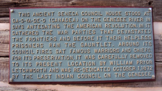 Seneca Council House Marker